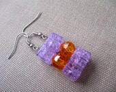 Purple and Orange Earrings