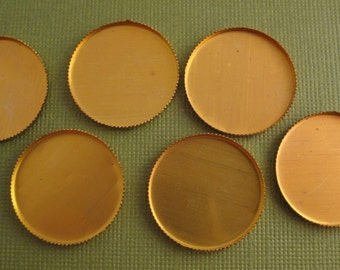 Brass Round Bezel Settings 21mm (10)