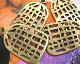 Vintage Brass Bird Cage Charms (30)
