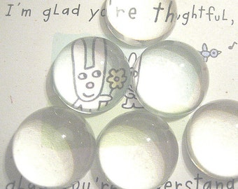 Clear Acrylic Round Cabochons Magnifying 22mm (25)