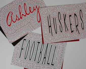 HUSKER PRIDE Name Art