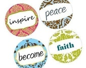 AMAZING INSPIRATIONAL SAYINGS-WORDS-damask -ONE INCH ROUNDS- DIGITAL SHEET-BUY 2 GEt 1 FREE