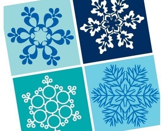 Scrabble Size Pendant Images - Amazing Snowflakes - Pendant Images  - Great for magnets-glass tile-BUY 2 Get 1 FREE