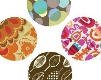 Retro Textile Patterns - (1x1) One Inch (25mm) Round Pendant Images - Digital Sheet - Buy 2 Get 1 Free - Instant Download - Digital Download