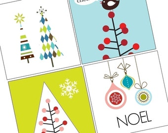Vivid Christmas- Scrabble Size Pendant Images - Digital Sheet - BUY 2 Get 1FREE