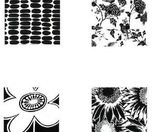 Black and White Graphic patterns - Scrabble Size Printable Images - Buy 2 Get 1 Free - Instant Download - .75x.83 Inch - Digital File