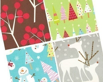 Contemporary Christmas patterns - (1x1) One Inch or 25mm Pendant Images - Digital Collage Sheet - Buy 2 Get 1 Free - Instant Download