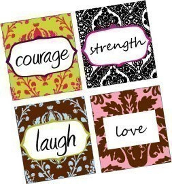 Amazing Inspirational Sayings and Words - Damask Scrabble Size Pendant Images - Digital Sheet - BUY 2 GET 1 FREE
