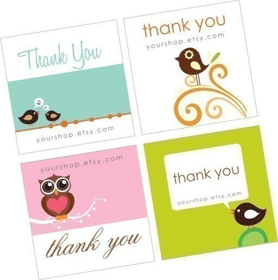 Personalized Etsy Shop Product Display Cards and Thank you cards-digital sheet-pdf- YOU PRINT