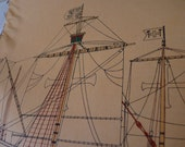 NAUTICAL SHIPS ILLUSTRATIONS   Original Pages from a Vintage Ship Book