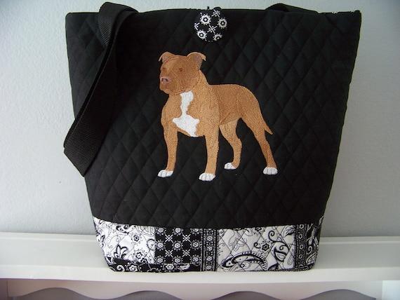 American Pit Bull Terrier Reversible Tote Bag
