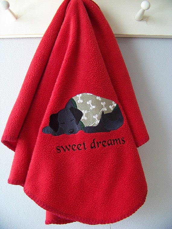 Black Labrador Sweet Dreams Doggy Blanket