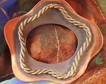 Vintage Fifties Modern Copper Brooch