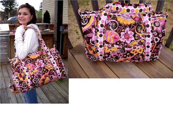 Double Sided Quilted Weekender Duffle Bag