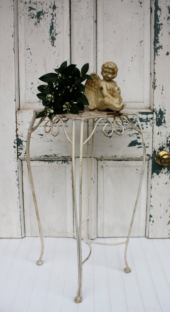 Vintage Shabby Chic Metal Table