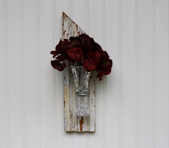 Architectural Asymmetrical Wall Vase ( RESERVED for ashley )