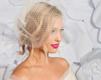 Double layered birdcage veil 11 inch - ready to ship - FREE SHIPPING*