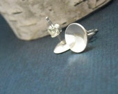 Large Circle Post Earrings Sterling- Free Shipping