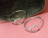 Sterling Friendship Rings Love Me Knot - Free Shipping
