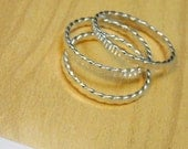 Sterling Twist Stacking Ring Trio- Free Shipping