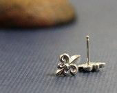 Fleur de lis Sterling Post Earrings- Free Shipping