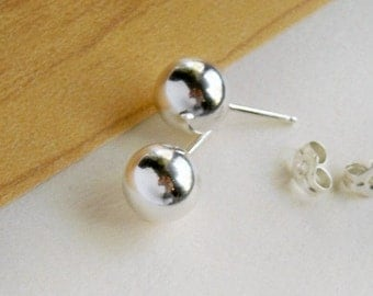 Large Ball Stud Earrings- Free Shipping
