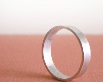 The O Ring- Thick Sterling Band- Free Shipping