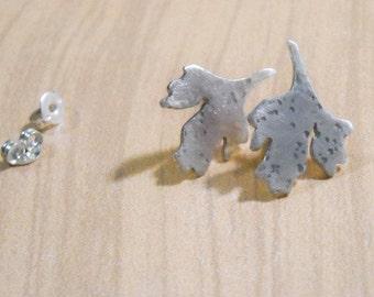 Sterling Leaf Earrings- Free Shipping