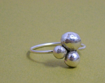 Sterling Pebble Ring- Free Shipping