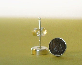 Leather Stud Earrings-Free Shipping