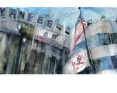 New York Yankees - tribute to the old yankee stadium Watercolor Print