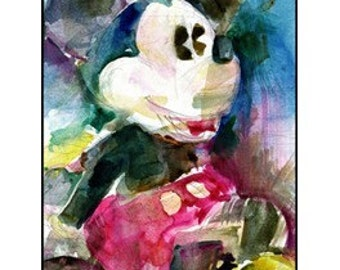 Clearance -  Mickey Mouse - Disney Art Watercolor