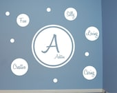 Dot Monogram with Personality Dots Set - Vinyl Wall Decal