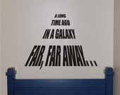Star Wars A Long Time Ago Wall Decal - Star Wars Wall Decal - Star Wars Decal - Star Wars - Vinyl Wall Decal -Teen Decal - Bedroom Decal