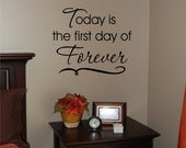 Forever Decal -  Wedding Vinyl Wall Decal - Wedding Decal - Vinyl Wall Decal