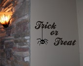 Trick or Treat Halloween Wall Decal - Halloween Decoration - Halloween - Fall Decal - Halloween Decal - Vinyl Wall Decal