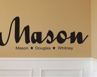 Childs name-Vinyl wall decal