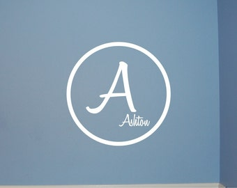 Dot Monogram - Vinyl Wall Decal