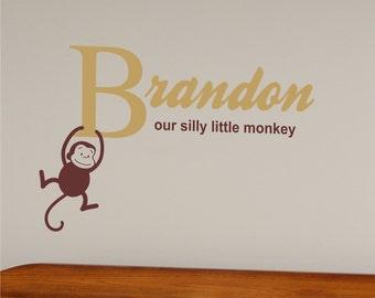 Silly Little Monkey - Vinyl Wall Decal