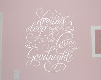 Sweet Dreams - Vinyl Wall Decal