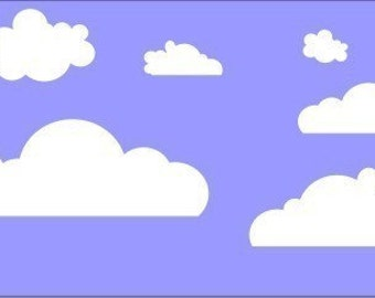 Puffy clouds-Vinyl wall decal