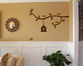 Branch with Birdhouse Large - Vinyl Wall Decal