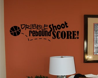 Basketball Wall Decal - Sports Wall Decal - Teen Wall Decal - Basketball Decal - Boys Wall Decal - Nursery Wall Decal - Sports Decal