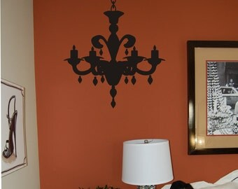 Chandelier - Chandelier Wall Decal - Nursery Decal - Bedroom Decal - Teen Decal - Chandelier wall art - Vinyl Wall Decal