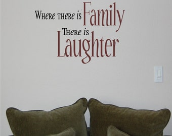 Where there is family-Vinyl wall decal