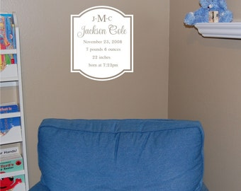 Baby Announcement - Vinyl Wall Decal