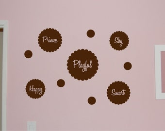 Personality Flowers - Vinyl wall decal