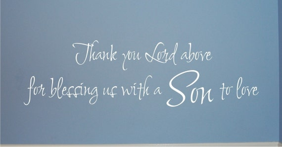 A Son to Love - Vinyl Wall Decal