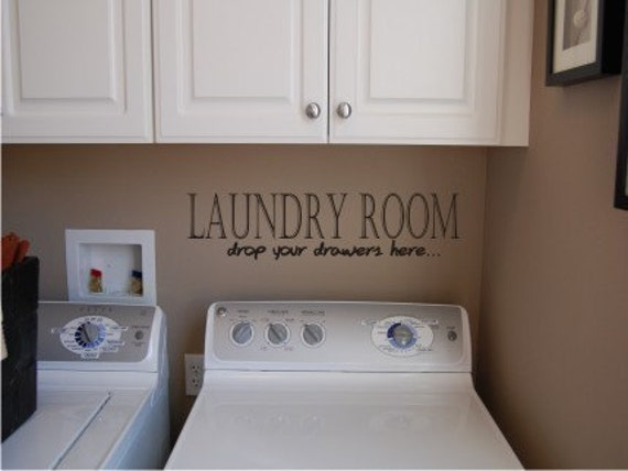 Laundry Room - Vinyl wall decal