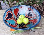 Fused Glass Sink in Bright Mosaic Pattern